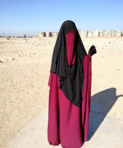 half niqab pourpre