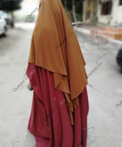 Abaya Saoudienne Bint.a Whool Peach Brique Dos