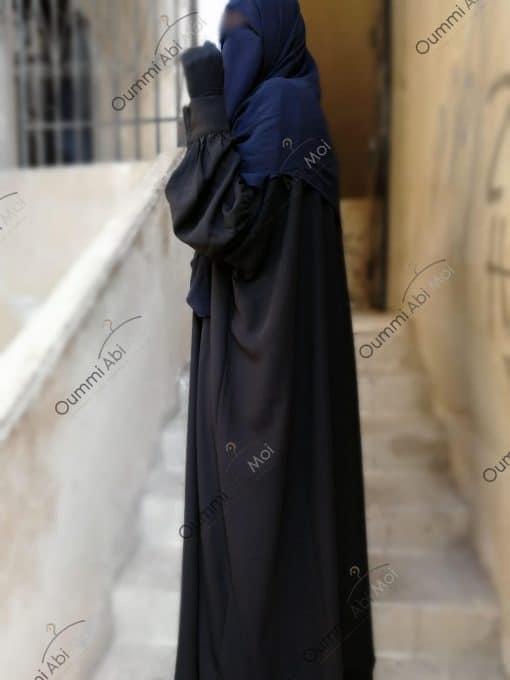 Abayas Manches Bint.a Semi-Caviary Noir Profil