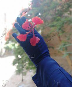Gants Tactiles Sans Fleurs Bleu