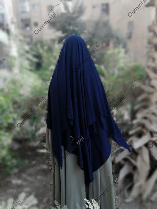 Khimar 3 Voiles Bleu