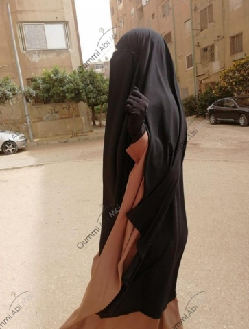 Maxi Khimar Bint.a Noir & Abaya Saoudienne Taupe Rosé