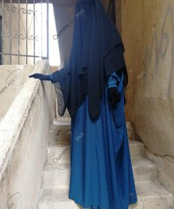 Khimar 3 Voiles Bint.a Coupe Evasée Noir Profil