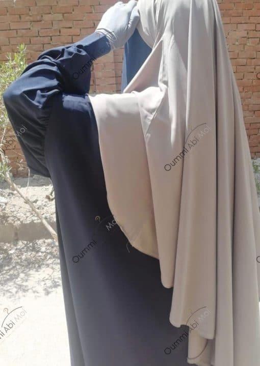 Abaya Manches Bint.a Whool Peach Bleu