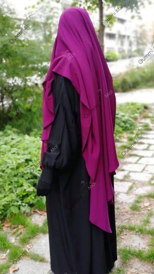 Abaya Manches Bint.a Whool Peach Noir