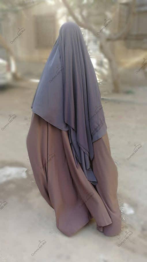 Abaya Saoudienne Bint.a Whool Peach Taupe