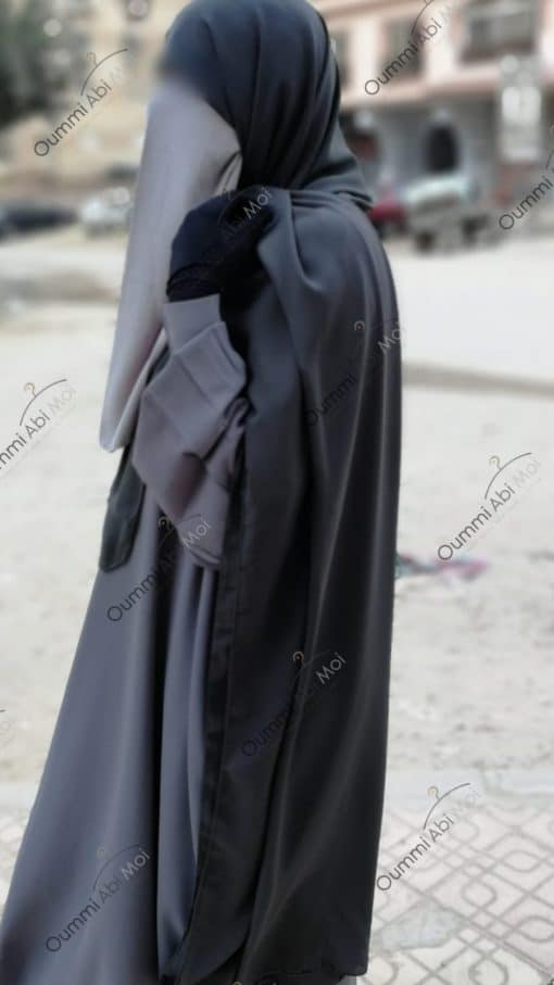 Half Niqab Gris Perle
