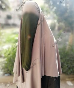 Half Niqab Kaki