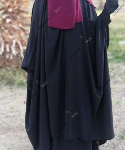 Jilbab 2 Pièces Bint.a Whool Peach Noir Profil