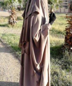 Jilbab 2 Pièces Bint.a Whool Peach Nude