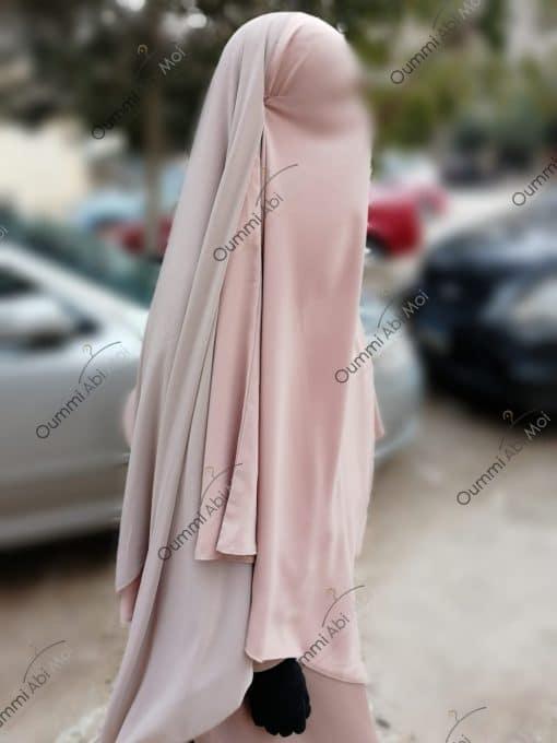 Khimar 3Voiles Bint.a Rose Nude Profil