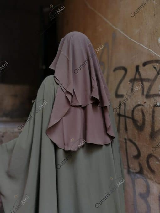 Niqab 3Voiles 90cm Taupe