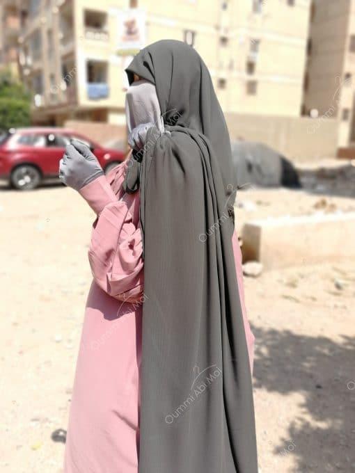 Abaya Manches Bint.a Whool Peach Vieux Rose (2)
