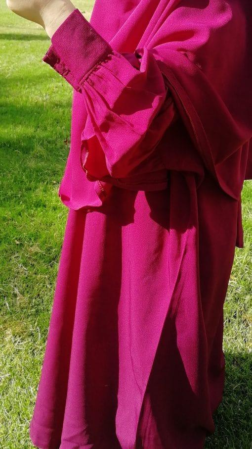 Abaya Mini Bint.a Prune Manches