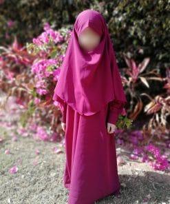 Khimar Mini Bint.a Prune Profil