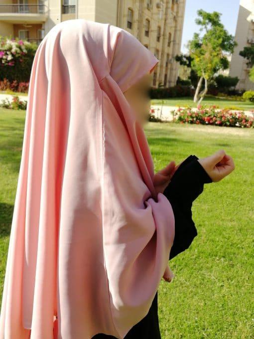 Khimar Mini Bint.a Rose Bonbon Profil
