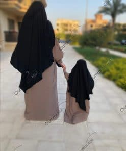 Abaya Manches Bint.a Whool Peach Taupe Nude