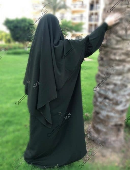 Abaya Mini Bint.a Whool Peach Kaki