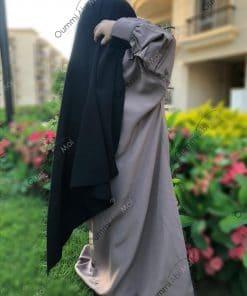 Abaya Mini Bint.a Whool Peach Taupe Nude