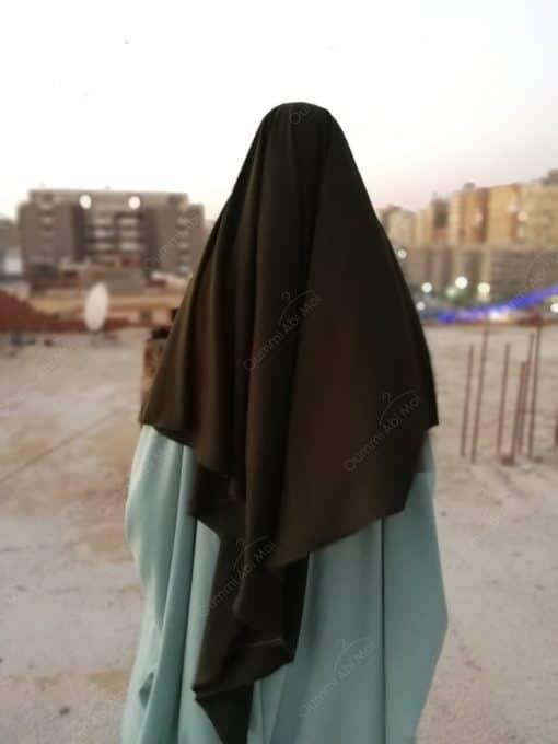 Abaya Saoudienne Bint.a Whool Peach Vert d'Eau