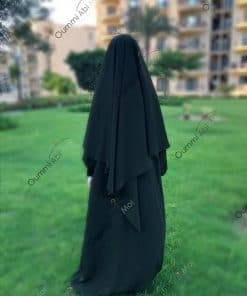 Khimar Mini Bint.a Whool Peach Kaki