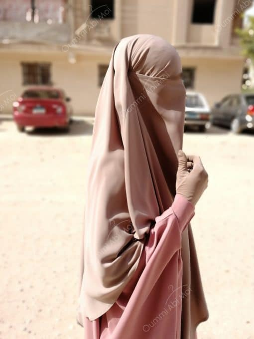 Maxi Khimar Bint.a Whool Peach Taupe Nude (2)