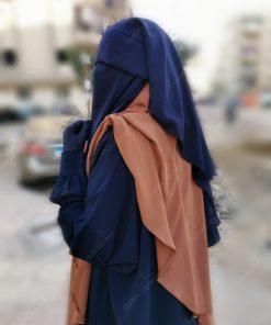 Abaya Manches Bint.a Caviary Premium Bleu Nuit