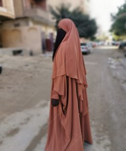 Abaya saoudienne Bint.a Caviary Premium Camel