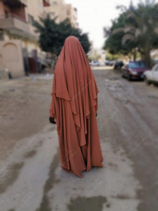 Abaya saoudienne Bint.a Caviary Premium Camel Dos