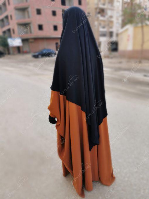 Abaya saoudienne Bint.a Caviary Premium Miel Intense