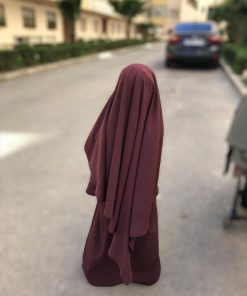 Mini Khimar Whool Peach Bois de Rose